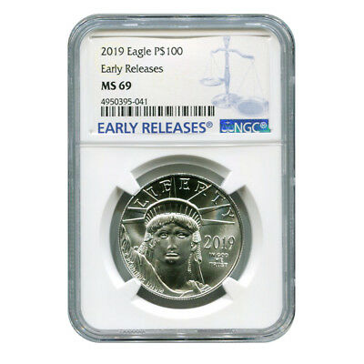 Certified Platinum American Eagle 2019 One Ounce MS69 NGC Early Release