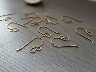 Raw Brass Double Loop French Hook Ear Wires - MADE TO ORDER