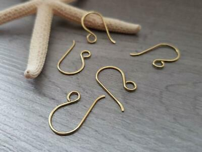 Raw Brass Mini French Hook Ear Wires - MADE TO ORDER