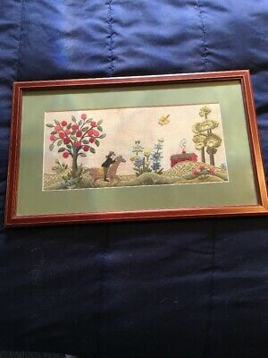 Antique Embroidery Needlework- Tapestry