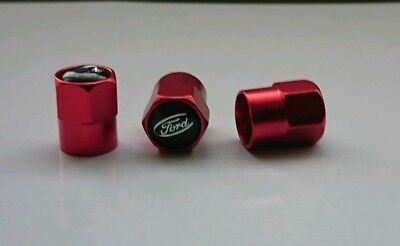 Red dust caps. fit Ford vehicles.