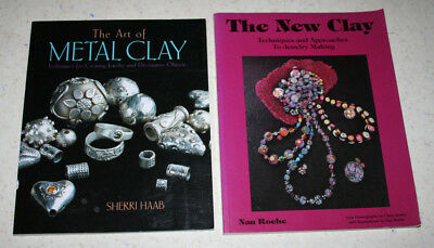 Lot 2 Jewelry Making Books - The New Clay (Roche) & The Art of Metal Clay (Haab)