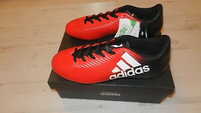 ADIDAS X 16.4 FxG FOOTBALL BOOTS UK SZ 12 RED BLACK CRAZY SALE £11.00 BRAND NEW