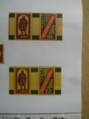 2 Old Swedish Matchbox Labels.