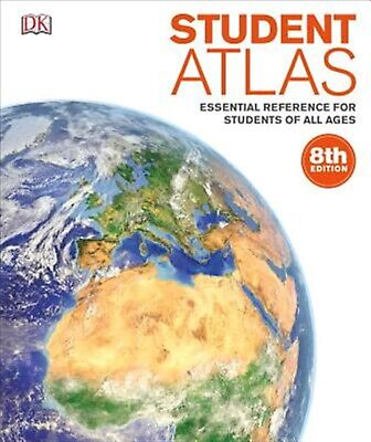 Student Atlas: Essential Reference for Students of All Ages by DK -Hcover