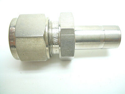 "Swagelok Stainless Steel 12MM - 1/2"" TUBE REDUCER SS-12M0-R-8 Metric to Standard"