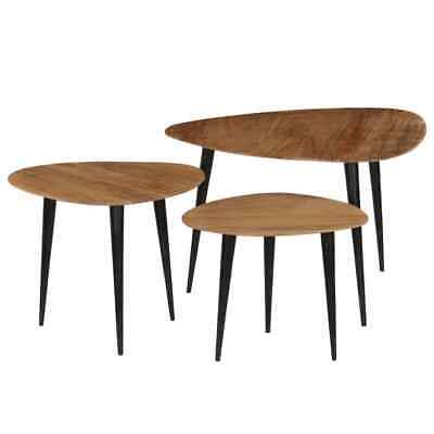 Basses d'Appoint d'Acacia Bois Massif Tables VIDAXL Table 3X Y67gybvf