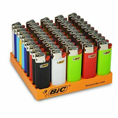 MINI BIC LIGHTERS Long Lasting Assorted Colours