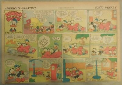Donald Duck Sunday Page by Walt Disney from 10/13/1940 Half Page Size