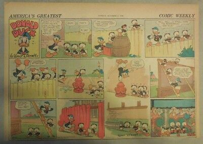 Donald Duck Sunday Page by Walt Disney from 10/6/1940 Half Page Size