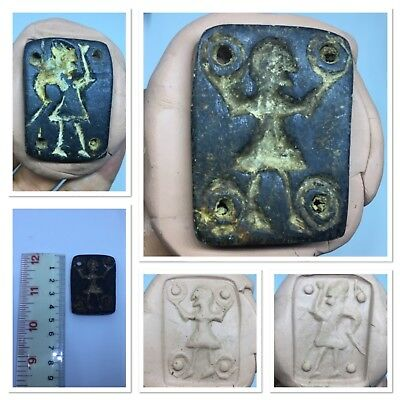 Rarely unseen Bactrian Black Stone double side intaglio seal
