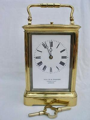 Rare 19th Century Grande Sonnerie French Brass Carriage Clock Chiming on Gongs.