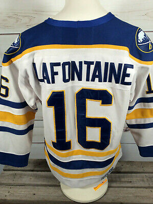 f05c01aab Vintage CCM Pat LaFontaine Buffalo Sabres #16 Jersey SIZE 48 Med Made In  CANADA