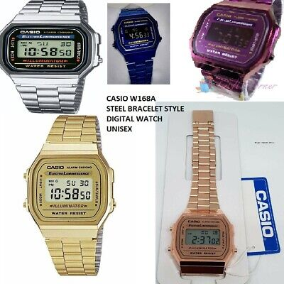 NEW Classic Stylish CASIO Retro Unisex Digital Bracelet Watch A168W Quartz UK