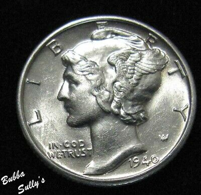 1940 Mercury Dime <> ABOUT UNCIRCULATED ++
