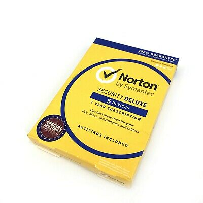 Norton by Symantec Security Deluxe 5 Devices Antivirus Included #1278