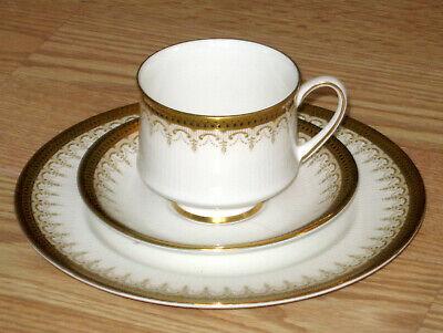 PARAGON England ATHENA cup saucer plate TRIO ornate gold tea coffee BONE CHINA
