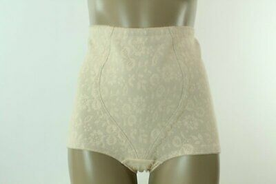 vtg Playtex rubber nylon shaper panty Girdle lace power net panties beige