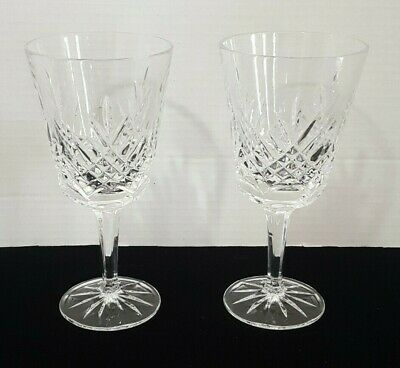 """2 Gorham CHANCELLOR Crystal Iced Tea Water Goblets 7-1/8"""""""