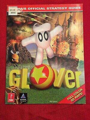 Glover Strategy Guide Official Prima Guide N64 RARE