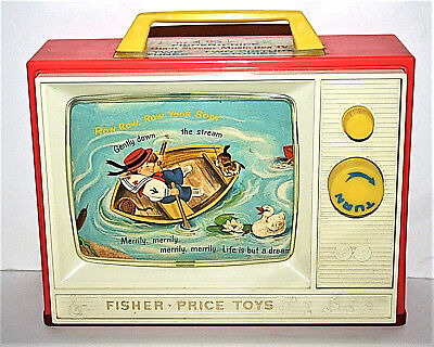 FISHER PRICE #114 Giant Screen Music Box TV- TV musicale- '66 TBE!  Vintage