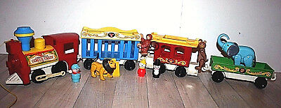 FISHER PRICE #991- Circus train Train du cirque complet- Vintage