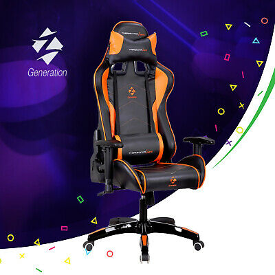Orange Gaming Racing Chair Ergonomic Office Sport Z-Generation ECO Leather