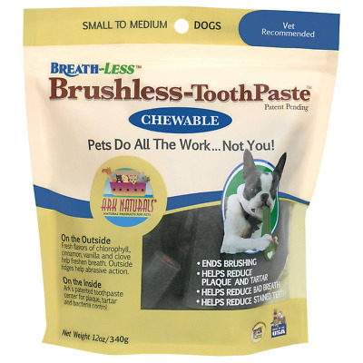 Ark Naturals Breath-less Brushless Toothpaste, Dental Chews for Small and Medium