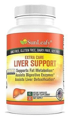 Detox Liver with Herbal Milk Thistle Extract Support Fat Metabolism Extra Care