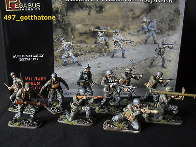 1/32 Pegasus/airfix German Paratroops Ww2. Pro Painted X 10 Boxed New.