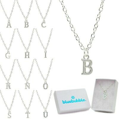 Bluebubble ALPHABET A-Z Initial Charm Necklace Gift Box Cute Personalised Name