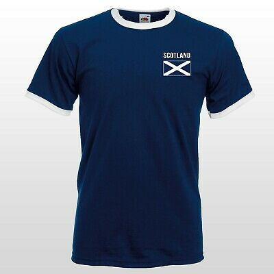 Scotland Retro Football T-shirt Top Nostalgic Men Women Shirt Unisex Classic Tee