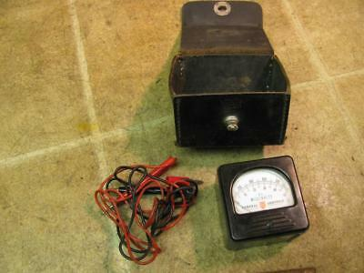 Tripplett General Controls 327T DC Millivolts Meter Gauge w Case and Leads