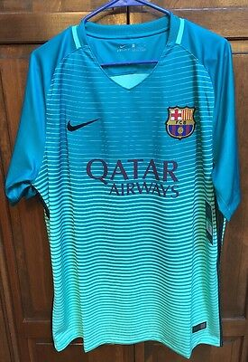 factory price bdc96 ca701 NIKE FC BARCELONA FCB Jersey 2016 2017 Third Neon Green Men's XL $90 NWT