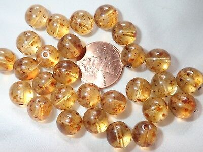 """PACK 10 CERAMIC BEADS BROWN WITH PRETTY  DETAIL /""""CHOCCO/"""" 10mm"""