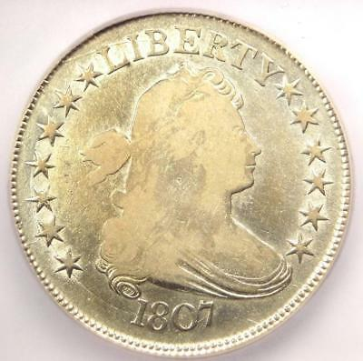 1807 Draped Bust Half Dollar 50C Coin - Certified ICG F12 - Rare Coin!