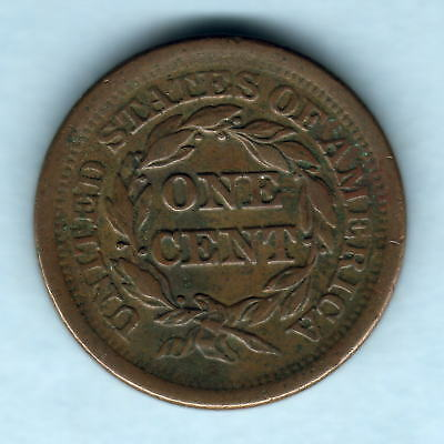 U.S.A.  1851 One Cent..  gVF