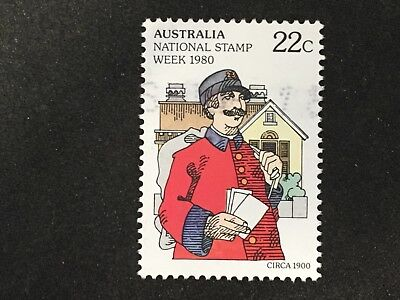 1980 Australia National Stamp Week 22C Postman & Letters - Fine Used