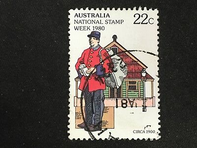 1980 Australia National Stamp Week 22C Postman With Bag - Fine Used