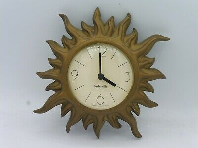 Beautiful Vintage Baskerville Sunbusrt Wall Clock