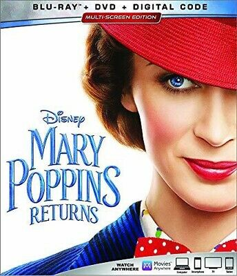 Disney's Mary Poppins Returns (Blu-ray/DVD/digital) Brand New With Slipcover