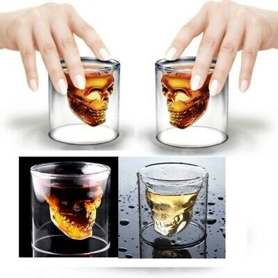 Skull Head Shot Glass Vodka Whiskey Tequila Creative Party Wine Beer Drink Cup