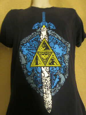 d93e36c3 The Legend of Zelda Triforce Ganondorf Zelda Link Master Sword T-shirt Size  M