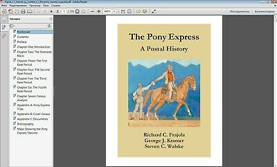 USA THE PONY EXPRESS A POSTAL HISTORY Privat local Stamps in P.D.F