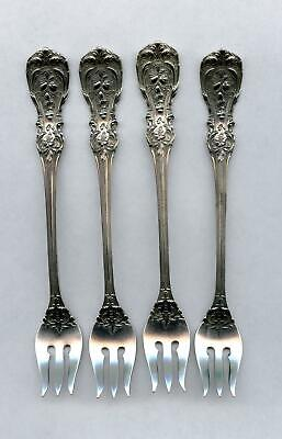 4 Francis 1st Cocktail Forks By Reed & Barton Sterling Silver 5-5/8 Inch