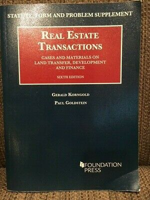 Real Estate Transactions: Cases and Materials on Land Transfer...(6th Edition)