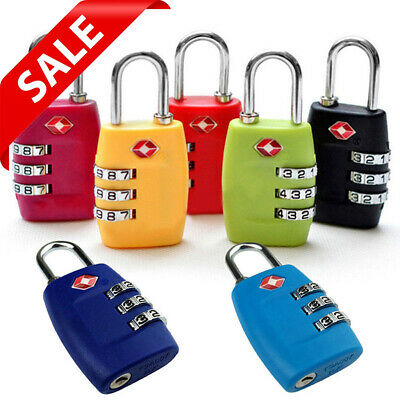 TSA Approved Luggage Lock Travel 3 Digit Combination Suitcase Padlock Reset HOT