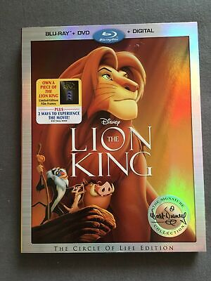 The Lion King Blu-ray / DVD / Digital (Walt Disney Signature Collection 2017)