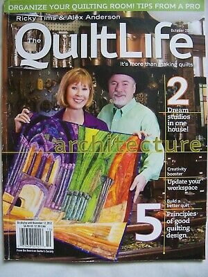 The Quilt Life Ricky Tims & Alex Anderson Quilting Craft Magazine Issue Oct 2012