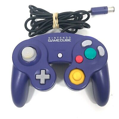 Official Gamecube Controller Purple Original Nintendo OEM Genuine Tested Working